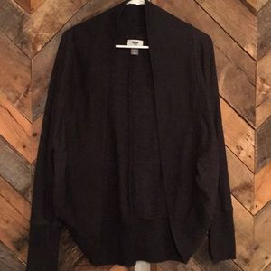 Charcoal open front cardi